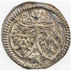 GERMANY: NUREMBERG: AR kreuzer (0.87g), 1693. AU