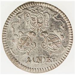 GERMANY: NUREMBERG: BI kreuzer (0.86g), 1773. UNC