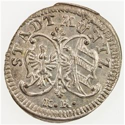 GERMANY: NUREMBERG: BI kreuzer (0.74g), 1786. UNC