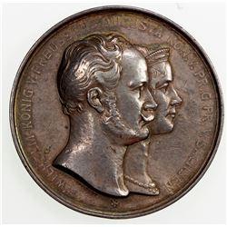 GERMANY: PRUSSIA: Wilhelm II, 1888-1918, AR medal (60.2g), 1899