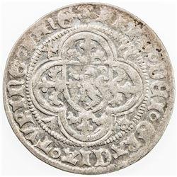 GERMANY: SAXE-MEISSEN: Friedrich IV, 1381-1428, AR helmgroschen (2.83g), Freiberg. F-VF