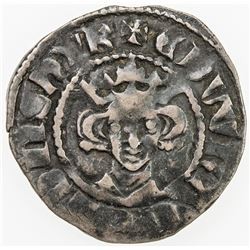 ENGLAND: Edward II, 1307-1327, AR penny (1.49g), London mint, S-1459, class XIII type, Fine