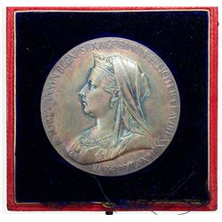 GREAT BRITAIN: AR medal (84.26g), 1897. EF