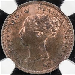 GREAT BRITAIN: Victoria, 1837-1901, AE 1/2 farthing, 1842. NGC MS63