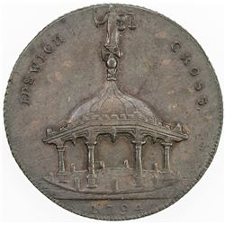GREAT BRITAIN: EXONUMIA: AE halfpenny token (10.04g), 1794. EF