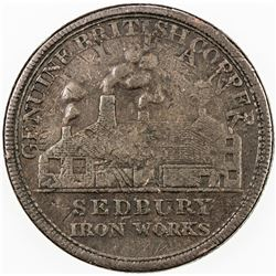 GREAT BRITAIN: EXONUMIA: AE penny token, ND. F