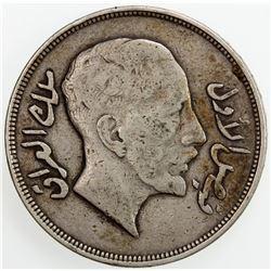 IRAQ: Faisal I, 1921-1933, AR riyal, AH1350/1932. F-VF