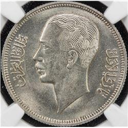 IRAQ: Ghazi I, 1933-1939, AR 50 fils, 1938/AH1357. NGC MS63