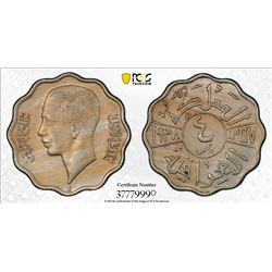 IRAQ: Ghazi I, 1933-1939, 4 fils, 1938-I/AH1357. PCGS MS62