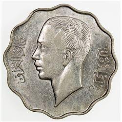 IRAQ: Ghazi I, 1933-1939, 4 fils, 1939/AH1358. AU