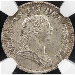 IRELAND: George III, 1760-1820, AR 5 pence, 1805. NGC MS64