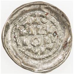 ITALIAN STATES: MILAN: Enrico II (emperor), 1004-1024, AR denaro (0.97g), ND. EF