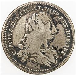 ITALIAN STATES: SICILY: Carlo di Borbone, 1734-1759, AR 4 tari, Palermo, 1735. F