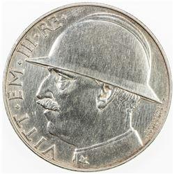 ITALY: Vittorio Emanuele III, 1900-1946, AR 20 lire, 1928-R, year VI