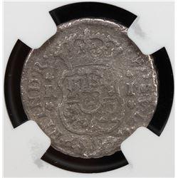 MEXICO: Felipe V, 1700-1746, AR real, 1743-Mo. PCGS VG