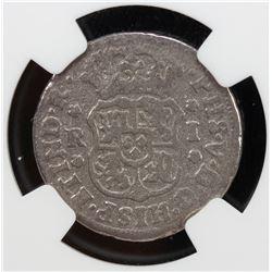 MEXICO: Felipe V, 1700-1746, AR real, 1746-Mo. PCGS G-VG