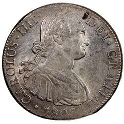 MEXICO: Carlos IV, 1788-1808, AR 8 reales, 1805-Mo. EF