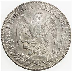 MEXICO: Republic, AR 8 reales, 1834/3/2-Do. EF-AU