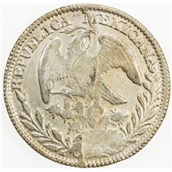 MEXICO: Republic, AR 8 reales, 1843-Do (possible overdate?), KM-377.4, assayer RM, EF, S