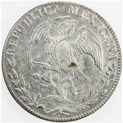 MEXICO: Republic, AR 8 reales, 1834-Go. EF-AU