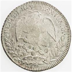 MEXICO: Republic, AR 8 reales, 1836-Pi. AU