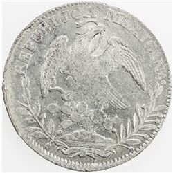 MEXICO: Republic, AR 8 reales, 1839-Zs. EF-AU
