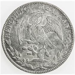 MEXICO: Republic, AR 8 reales, 1843-Go. EF-AU