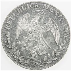 MEXICO: Republic, AR 8 reales, 1844-Go. AU