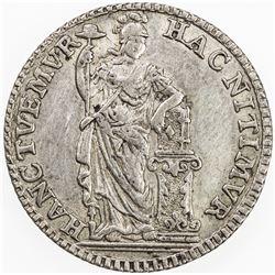 NETHERLANDS: HOLLAND: Dutch Republic, AR 1/4 gulden, 1759. EF