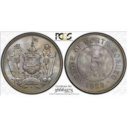 NORTH BORNEO: 5 cents, 1928-H. PCGS MS66