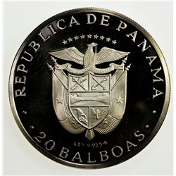 PANAMA: Republic, AR 20 balboas, 1974-FM. PF