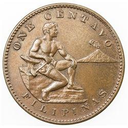 PHILIPPINES: U.S. Territory, AE centavo, 1911-S. UNC