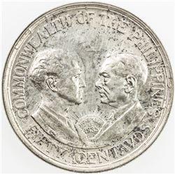 PHILIPPINES: Commonwealth, AR 50 centavos, 1936-M. AU