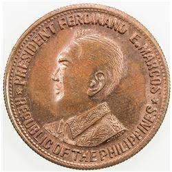 PHILIPPINES: AE peso (23.95g), ND [ca. 1968]. UNC