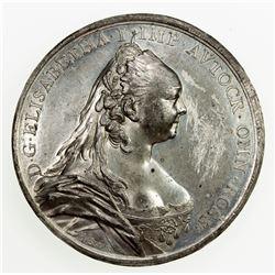 RUSSIA: Elizabeth, 1741-1761, medal (52.69g), 1754. EF