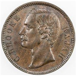 SARAWAK: Charles J. Brooke, 1868-1917, AE cent, 1884. AU