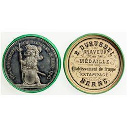 SWISS CANTONS: BERN: medal (24.76g), 1885. EF-AU