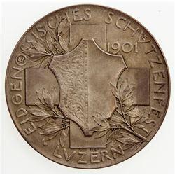 SWISS CANTONS: LUZERN: AR medal (35.92g), 1901. UNC