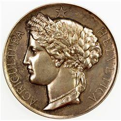 SWISS CANTONS: NEUCHATEL/NEUENBURG: AR medal (49.61g), 1887. AU