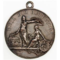 SWISS CANTONS: THURGAU: AR medal (39.15g), 1890. EF