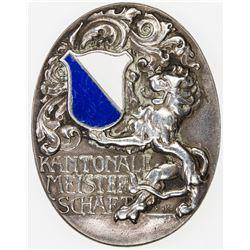 SWISS CANTONS: ZURICH: AR medal (15.19g), 1933. VF-EF