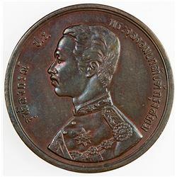 THAILAND: Rama V, 1868-1910, AE 2 att, Hamburg mint, CS1249 (1888). AU