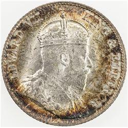 CHINA: HONG KONG: Edward VII, 1901-1910, AR 10 cents, 1902. UNC
