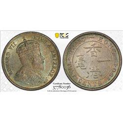 CHINA: HONG KONG: Edward VII, 1901-1910, AR 10 cents, 1904