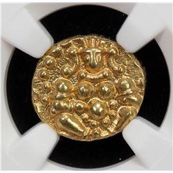MEDIEVAL INDIA: CHITRADURGA: Madakeri Nayaka and Successors, 1565-1779, AV durgi pagoda, ND. NGC MS6