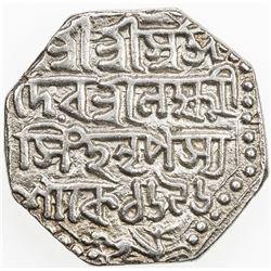 ASSAM: Lakshmi Simha, 1769-1780, AR rupee (11.44g), SE1696 (1774). VF