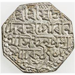 ASSAM: Gaurinatha Simha, 1780-1795, AR rupee (11.43g), SE1706 (1784), year 5. EF