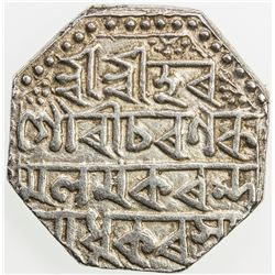 ASSAM: Gaurinatha Simha, 1780-1795, AR rupee (11.41g), SE1707 (1785), year 6. VF
