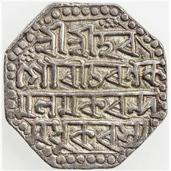 ASSAM: Gaurinatha Simha, 1780-1795, AR rupee (11.19g), SE1708 (1786), year 7. EF