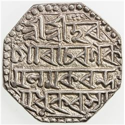ASSAM: Gaurinatha Simha, 1780-1795, AR rupee (11.42g), SE1708 (1786), year 7. VF-EF